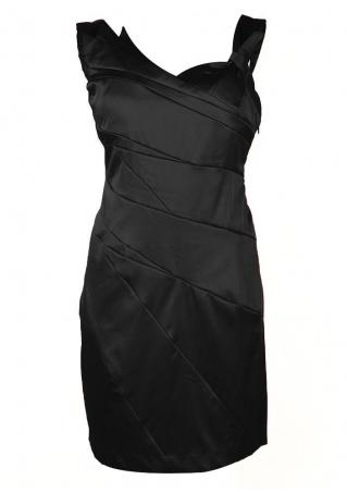 PETITE Solid Asymmetric Sleeveless Dress