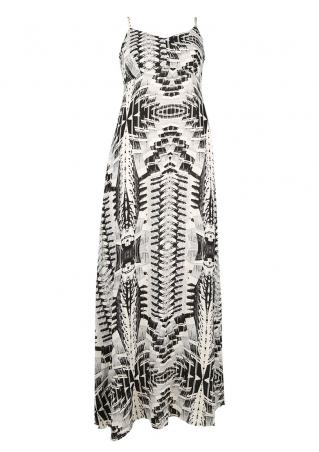 PETITE Printed Strappy Maxi Dress