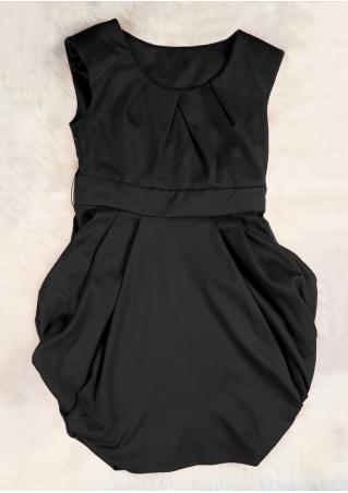 PETITE Solid Ruffled Mini Dress