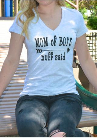 Mom of Boys Nuff Said T-Shirt