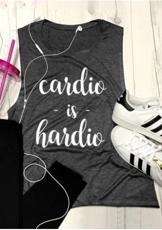 Cardio is Hardio Tank Cardio