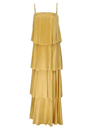 PETITE Solid Layered Maxi Dress