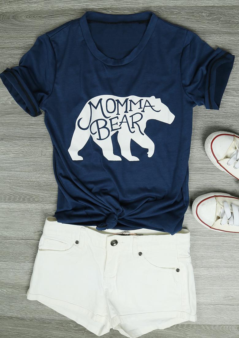 Momma Bear T Shirt Fairyseason