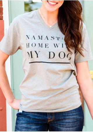 Namast'ay Home with My Dog T-Shirt