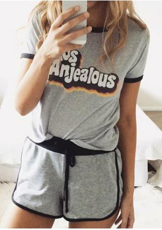 Losanjealous Drawstring T-Shirt and Shorts Set