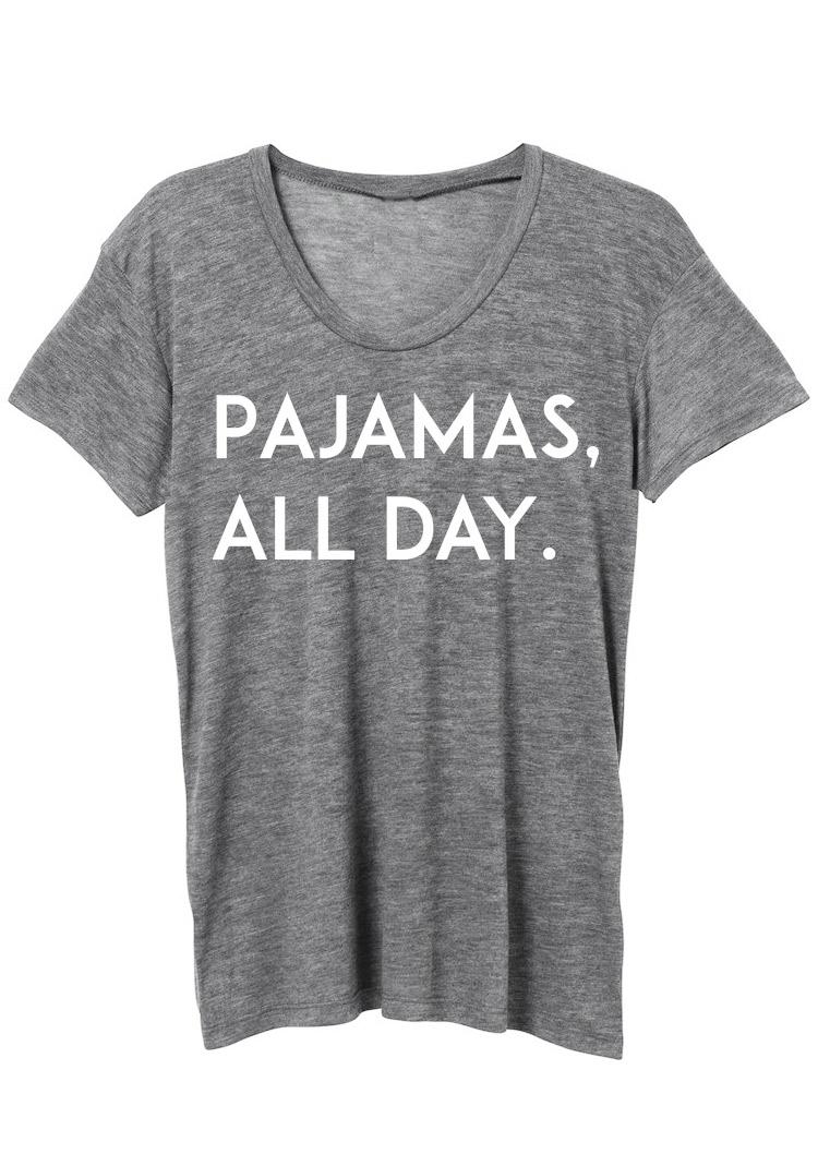 Pajamas All Day T Shirt Fairyseason