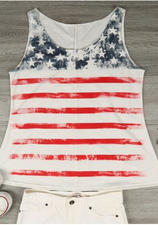 American Flag Casual Tank American