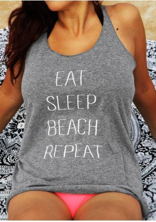Eat Sleep Beach Repeat Tank Eat