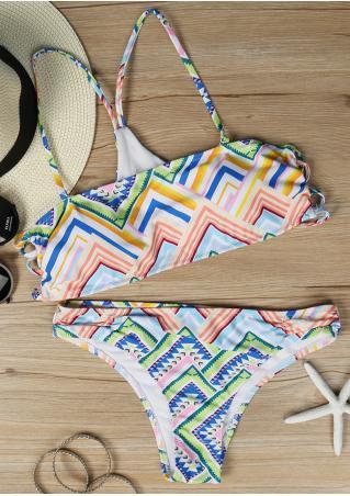 Multicolor Bandeau Bikini Set