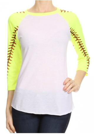 Printed Baseball T-Shirt