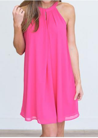 Solid Layered Halter Mini Dress