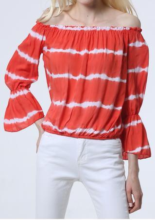 Tie Dyed Off Shoulder Blouse