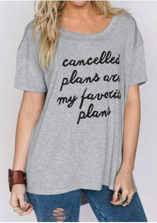 Cancelled Plans Are My Favorite Plans Asymmetric T-Shirt Cancelled