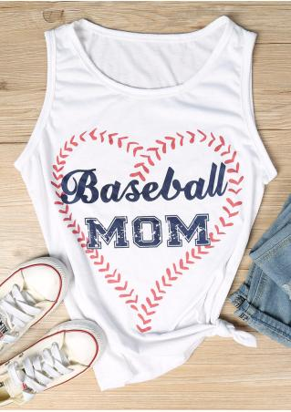 Baseball Mom Heart Tank Baseball