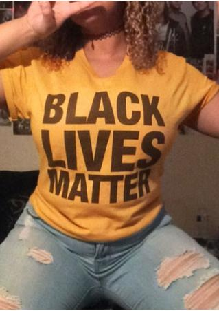 Black Lives Matter T-Shirt without Necklace Black