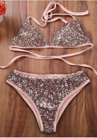 Sequined Bikini Set