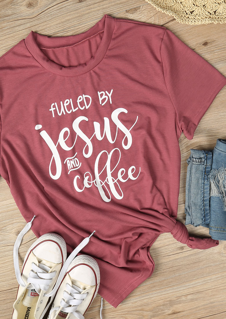 Fueled By Jesus And Coffee T Shirt Fairyseason