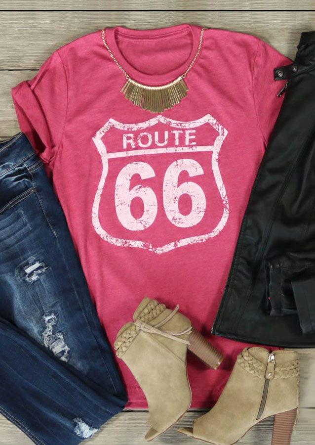Route 66 Printed T Shirt Fairyseason