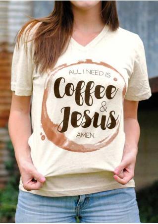 All I Need Is Coffee & Jesus Amen T-Shirt All