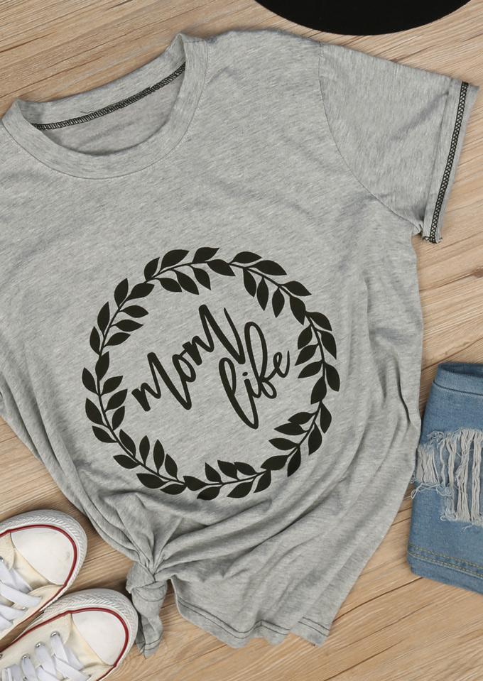 Mom Life T Shirt Fairyseason