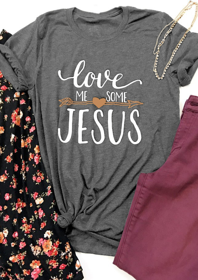 Love Me Some Jesus T Shirt Fairyseason