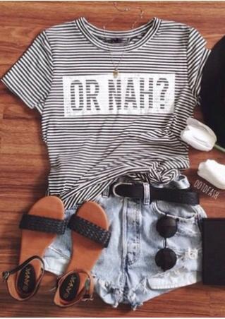 Or Nah Striped T-Shirt