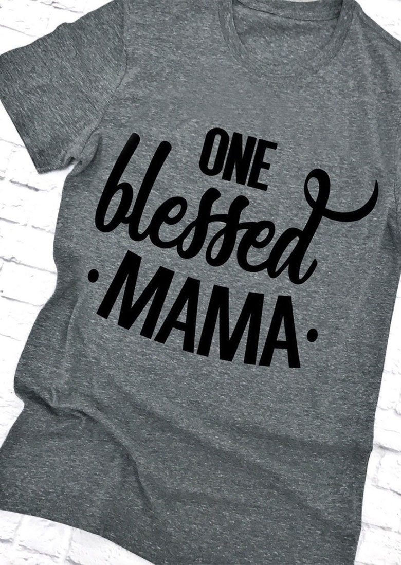 One Blessed Mama T Shirt Fairyseason