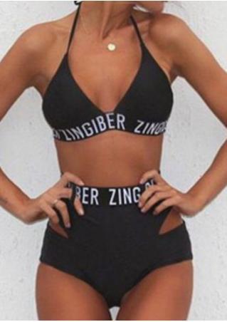 Zingiber Printed Sexy Bikini Set without Necklace