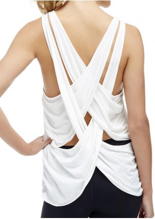 Solid Cross O-Neck Tank