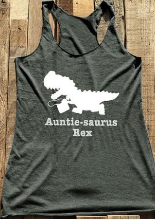 Auntie Saurus Rex Dinosaur Tank