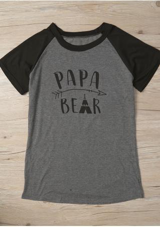 Papa Bear Arrow Baseball T-Shirt