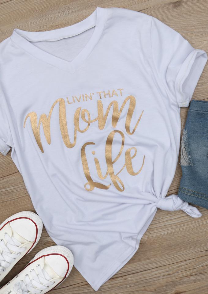 Solid Mom Life T Shirt Fairyseason