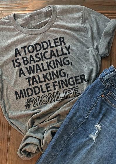 mom life letter t-shirt