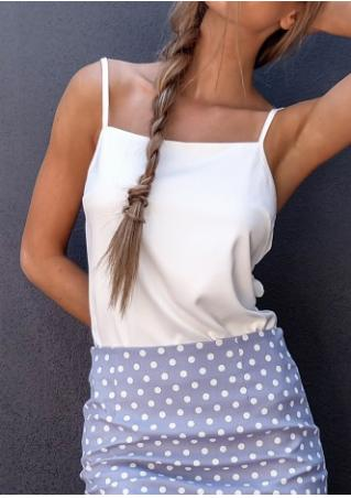 Solid Spaghetti Strap Backless Camisole