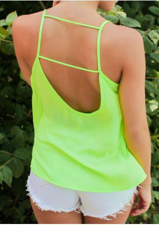 Solid Backless Camisole Solid
