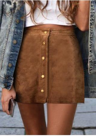 Solid Slim Bodycon Mini Skirt