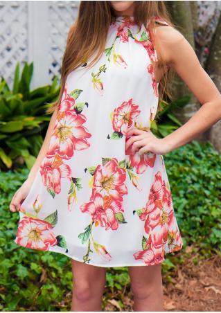 Floral Loose Sleeveless Mini Dress