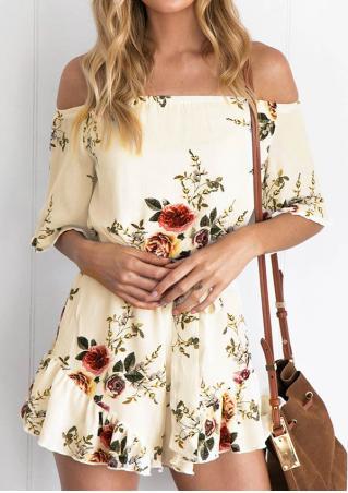 Floral Off Shoulder Romper