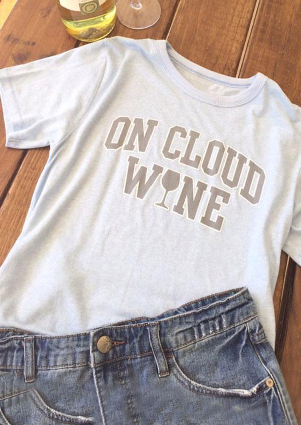 On Cloud Wine T Shirt Fairyseason