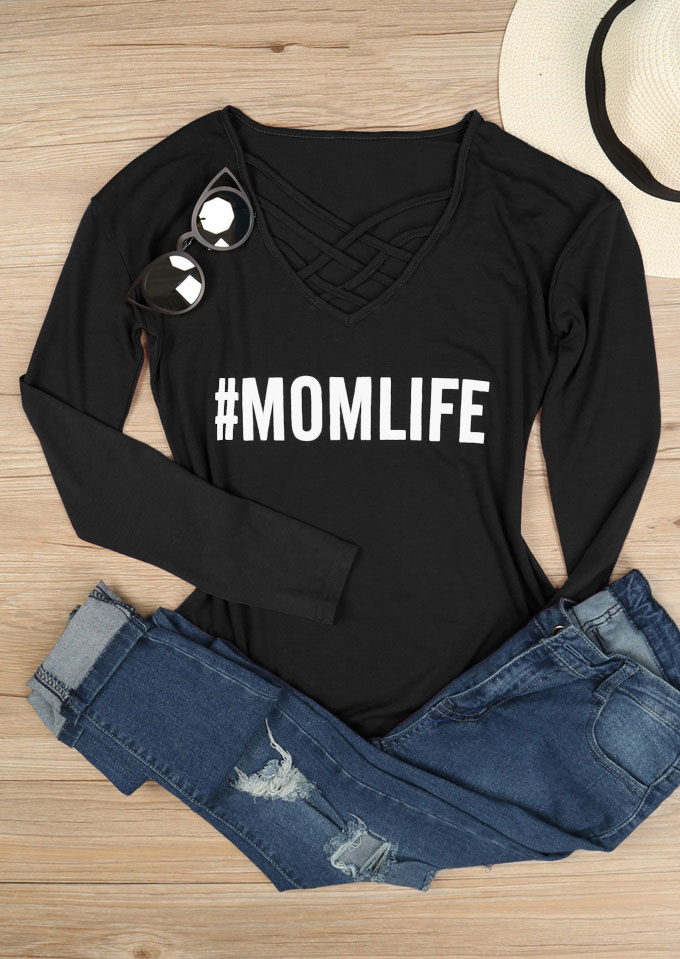 Mom Life Criss Cross T Shirt Fairyseason