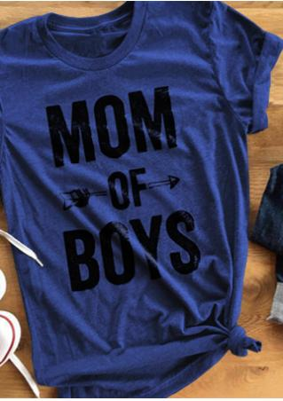 Mom Of Boys Short Sleeve Casual T-Shirt