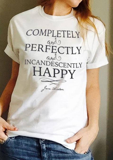 Tricou de damă, elegant, fashion, slim fit, cu mâneci scurte și imprimeu grafic
