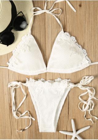 Lace Floral Bikini Set
