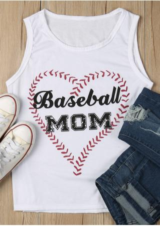 Baseball Mom Heart Tank