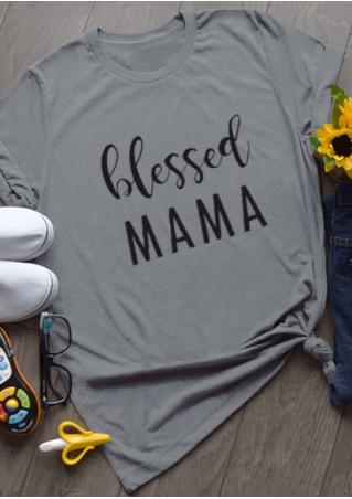 Blessed Mama O-Neck T-Shirt Blessed