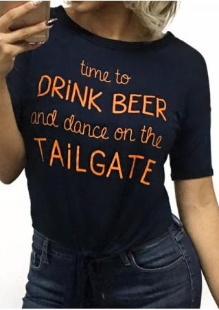 Time To Drink Beer Tie T-Shirt