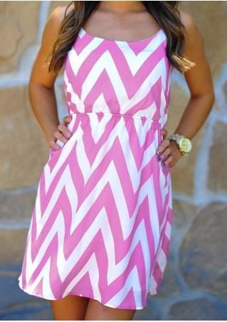 Zigzag Sleeveless Mini Dress