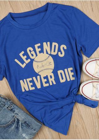 Legends Never Die Baseball T-Shirt