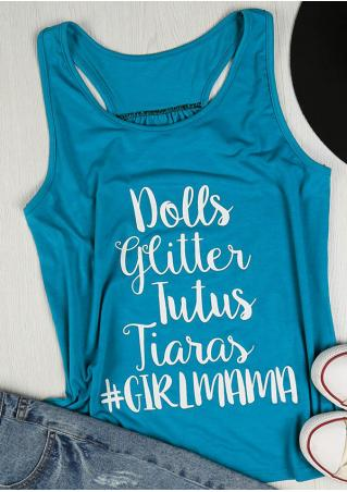 Dolls Glitter Tutus Tiaras Girl Mama Tank