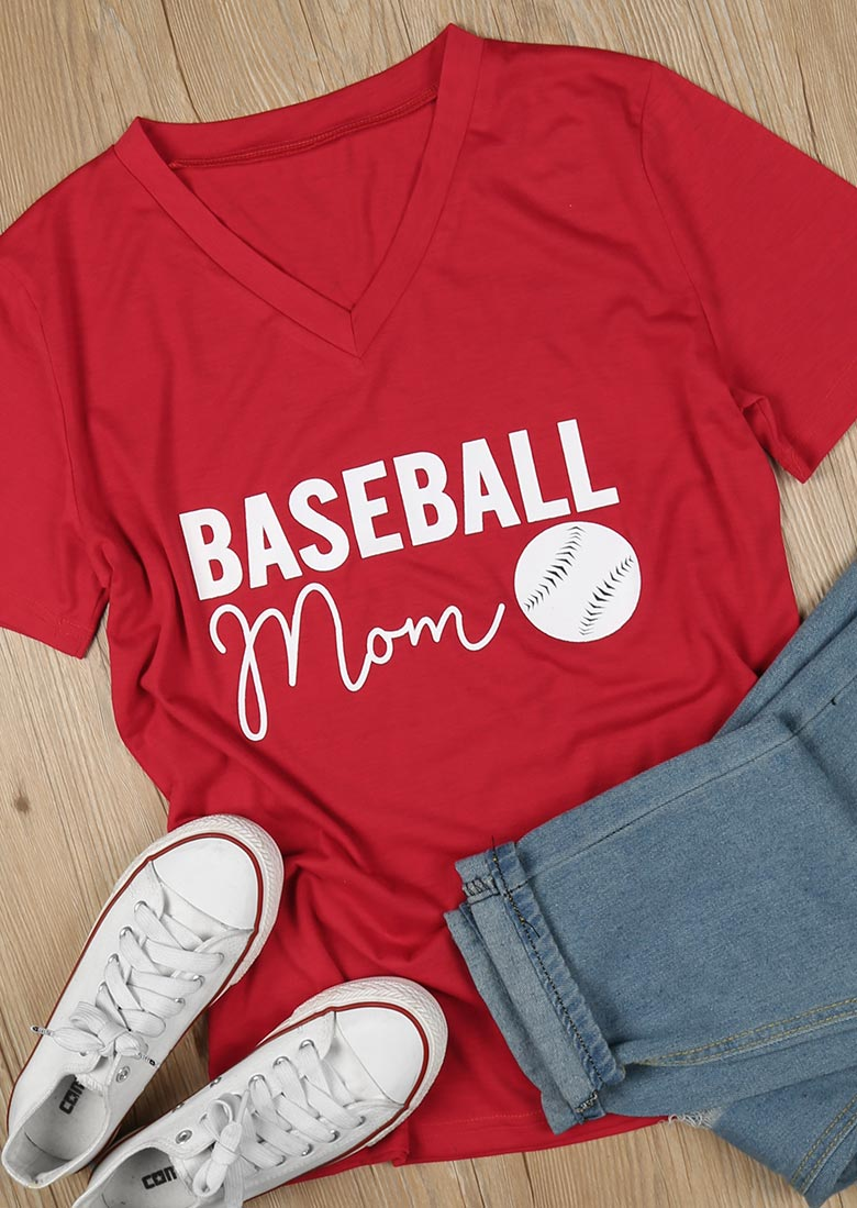 Baseball Mom T Shirt Fairyseason